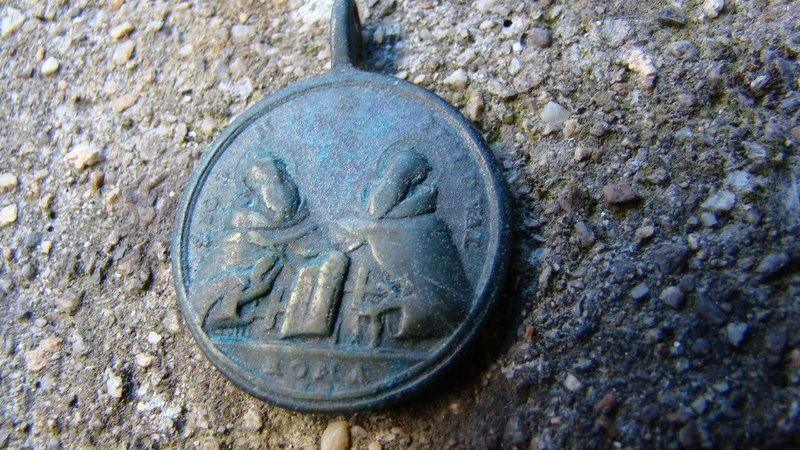 Médaille Jésus de Nazareth & les deux moines fondateurs de l'Ordre des Trinitaires - XVIIIème 00220c10