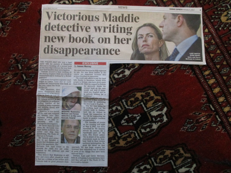 """Daily Mail headline: """"McCanns HAVEN'T been cleared"""":  Clarence Mitchell did not want to respond to request for comment last night - Page 3 00110"""