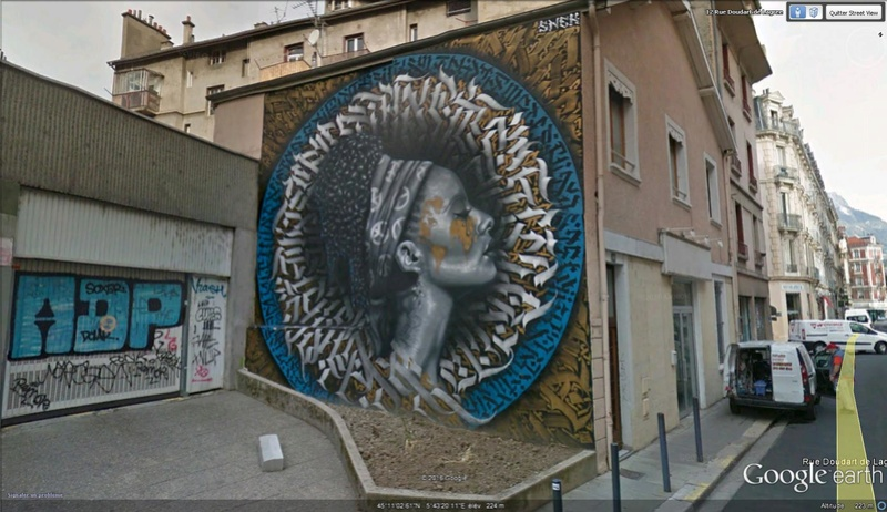 STREET VIEW : street art, grafs, tags et collages - Page 5 Afriqu10