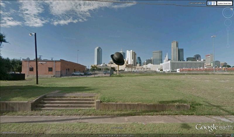 Chapeau melon géant, Dallas, Texas - USA Chapea11