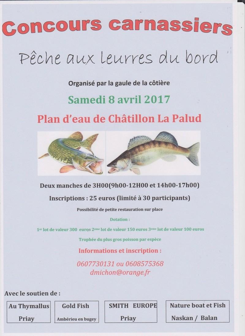 Concours carnassiers aux leurres le 8 avril dans l'Ain Affich10