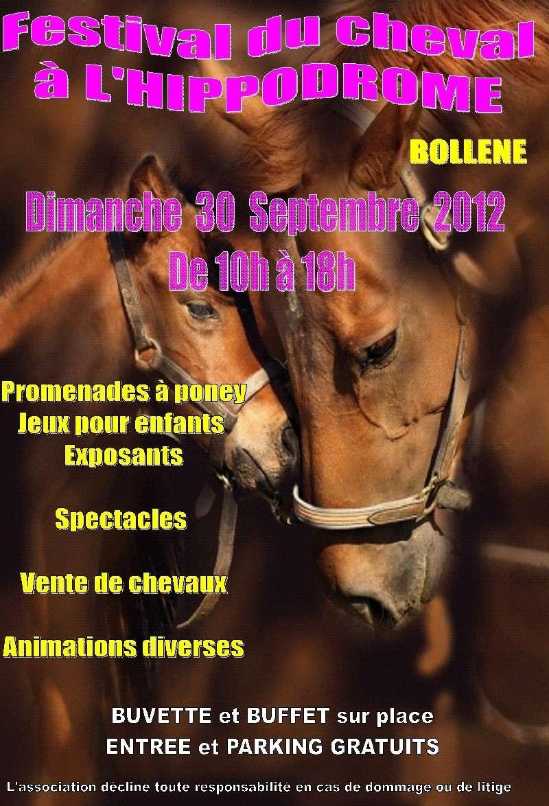 Festival du cheval à Bollène le 30 septembre 2012 Affich10