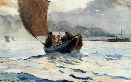 Retour de pêche - William Chapman Retour11