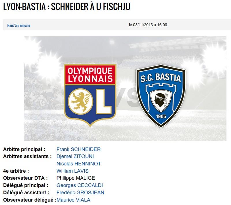 Avant match : Lyon - Bastia S10