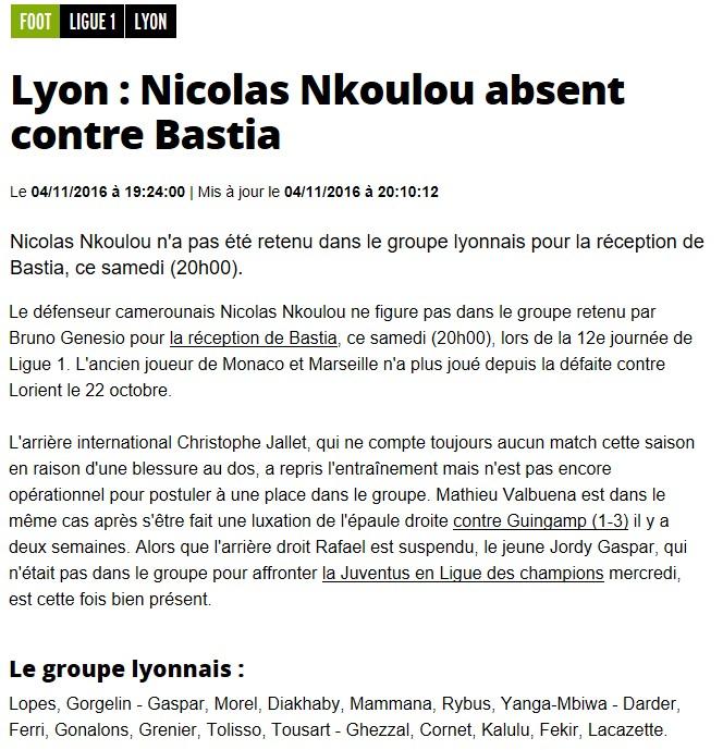 J12 / Jeu des pronos - Prono Lyon-Bastia S13