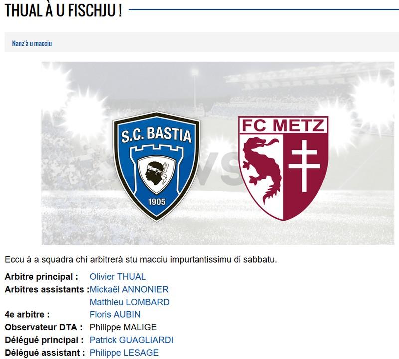 Avant match : Bastia - Metz S38
