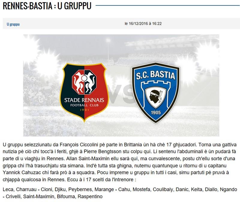 J18 / Jeu des pronos - Prono Rennes-Bastia S51
