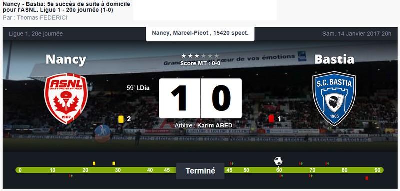 Après match : Nancy 1-0 Bastia S69