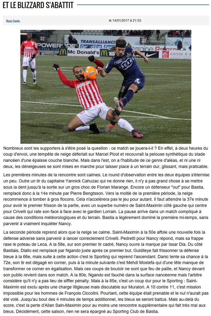 Après match : Nancy 1-0 Bastia S72