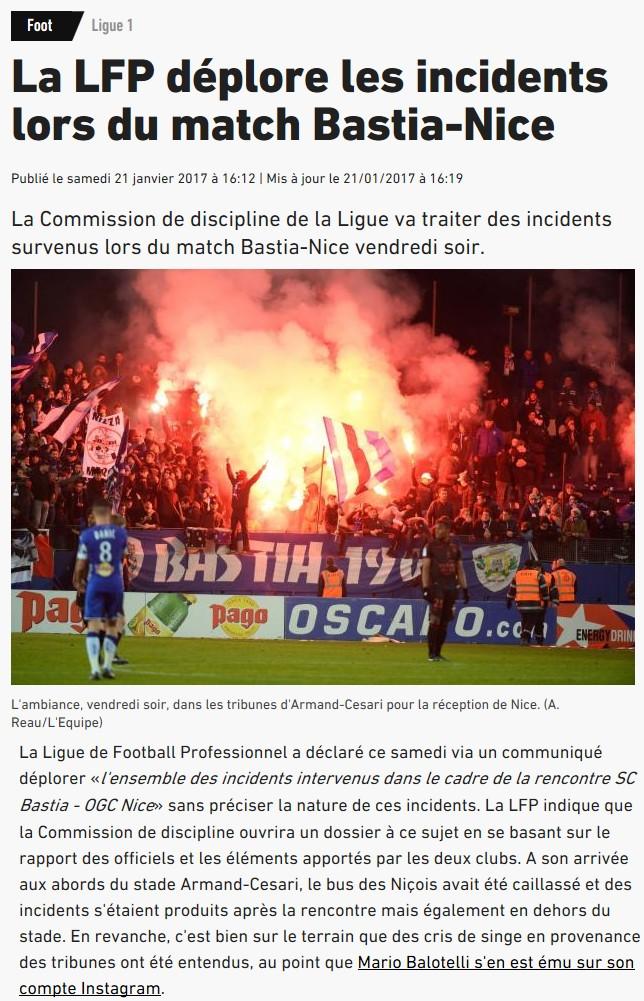 Après match : Bastia 1-1 Nice S82