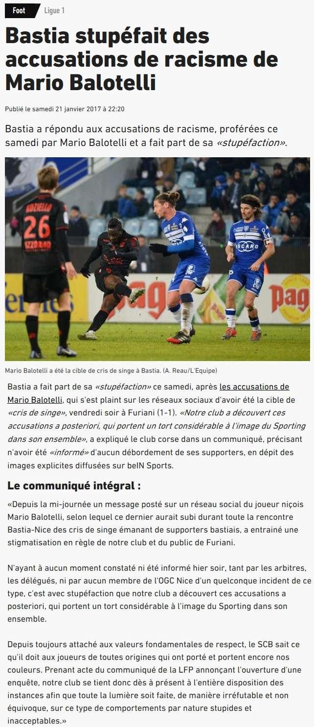 Après match : Bastia 1-1 Nice S83