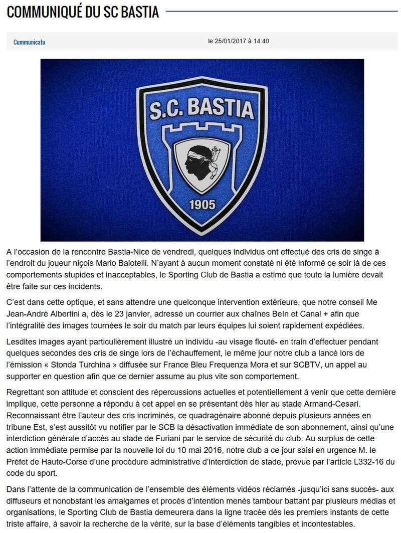 Après match : Bastia 1-1 Nice S86