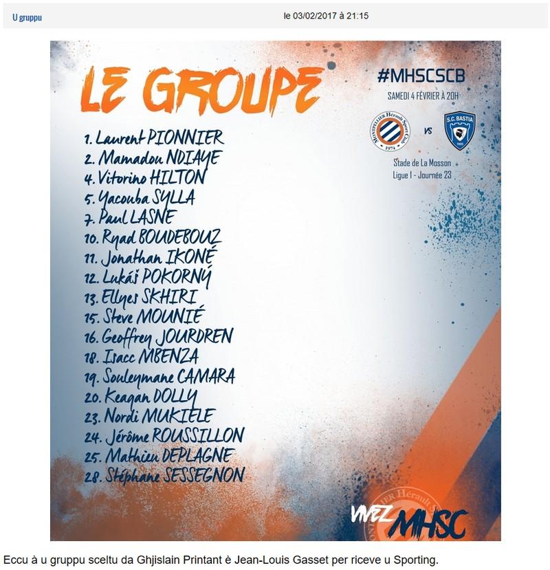 J23 / Jeu des pronos - Prono Montpellier-Bastia S93