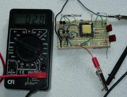 Un projet de compteur geiger à transistors Consoo10