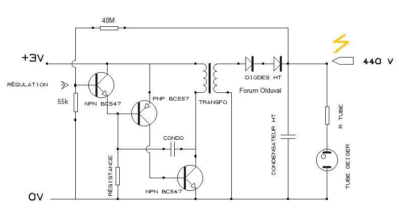 Un projet de compteur geiger à transistors Regulm11