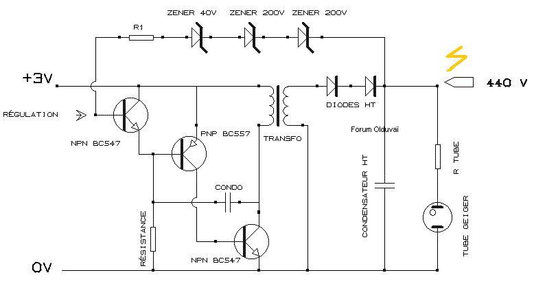 Un projet de compteur geiger à transistors Schmaf11