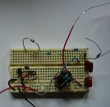 Un projet de compteur geiger à transistors Tincel10