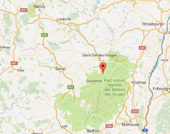 AT 2017 GO vers l'Alsace Pont de l'ascension Du Jeudi 25 mai au Dimanche 28 mai 2017 Carte10