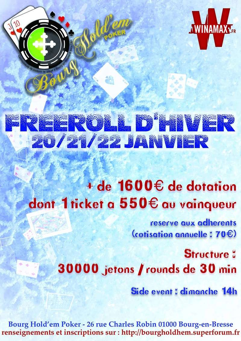 Freeroll d'hiver Bourg hold em 20/21/22 janvier 15556511