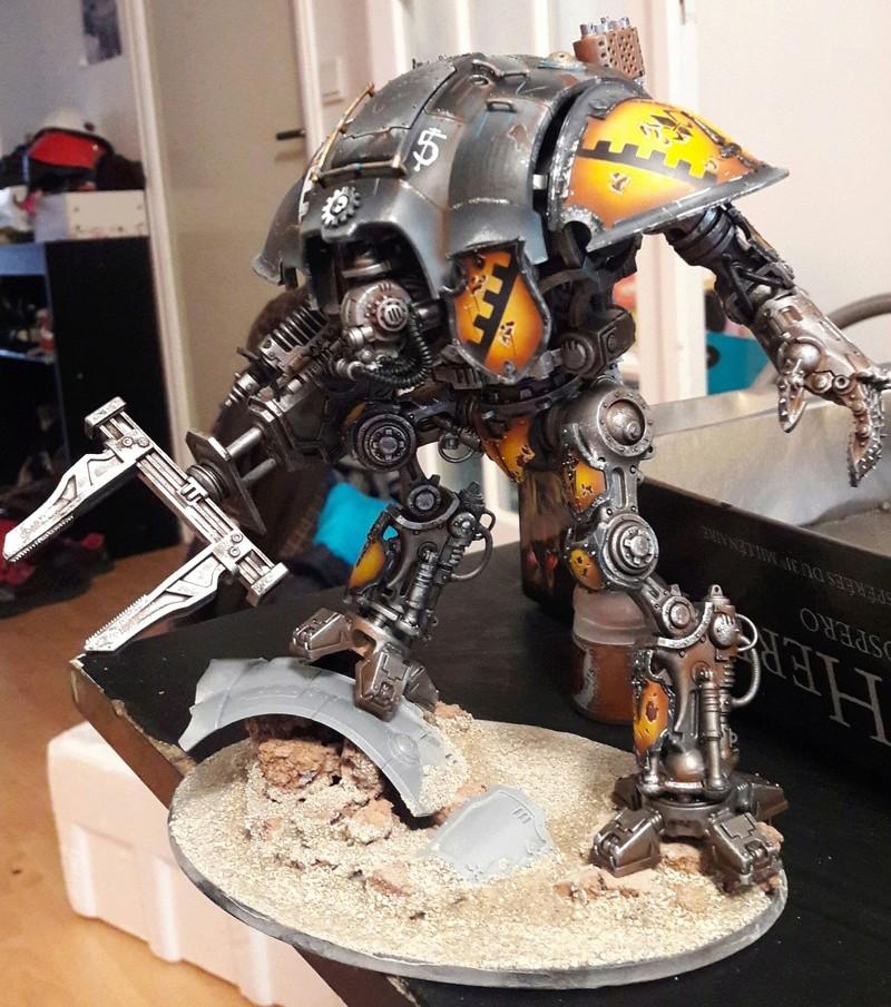 Iron hands, chevaliers, legion cybernetica et maintenant titan warlord  20170117