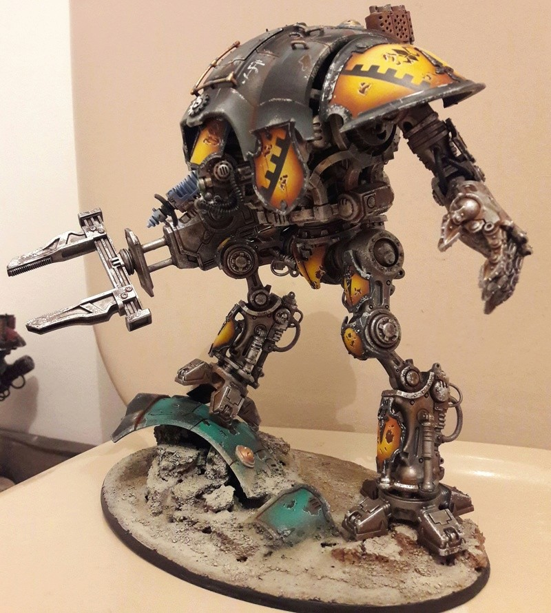Iron hands, chevaliers, legion cybernetica et maintenant titan warlord  20170119