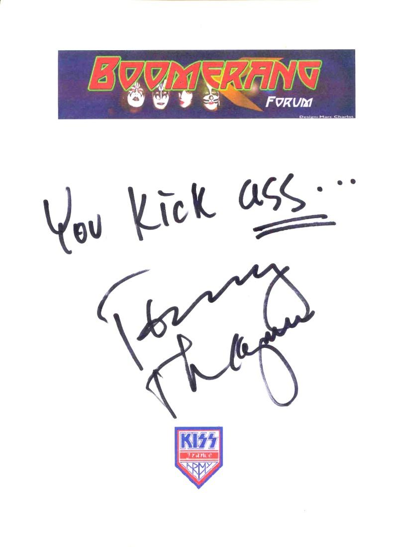 Un message de Tommy Thayer pour Boomerang Forum ! Boomer10