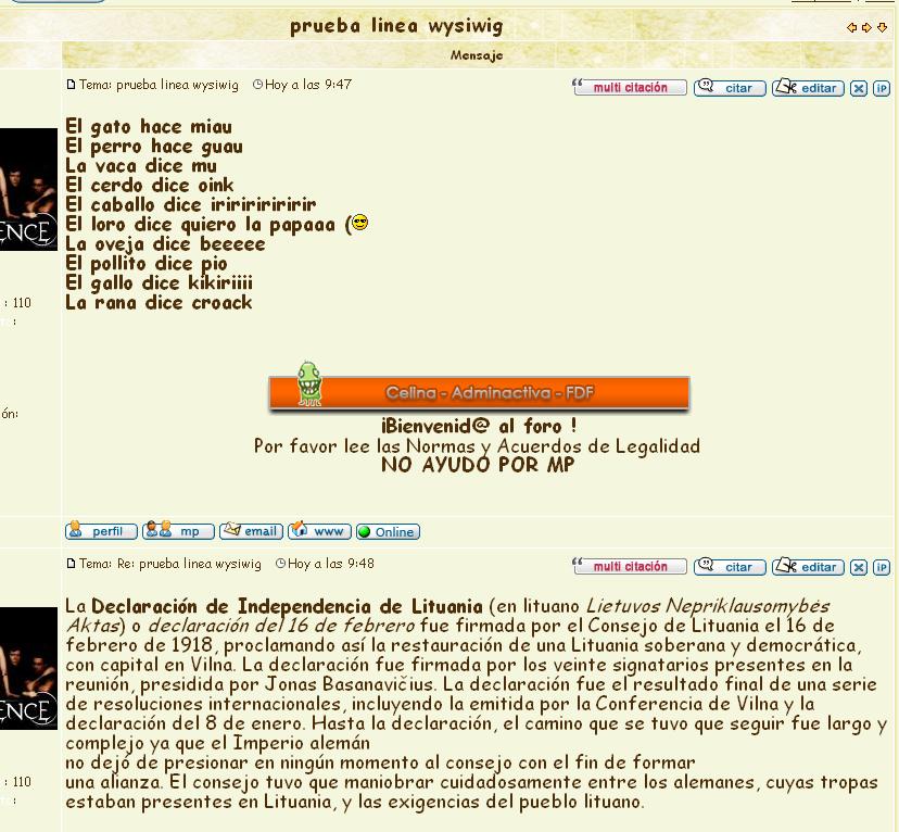 Que se arregle el error de saltos de página en el editor WYSIWYG Wy10