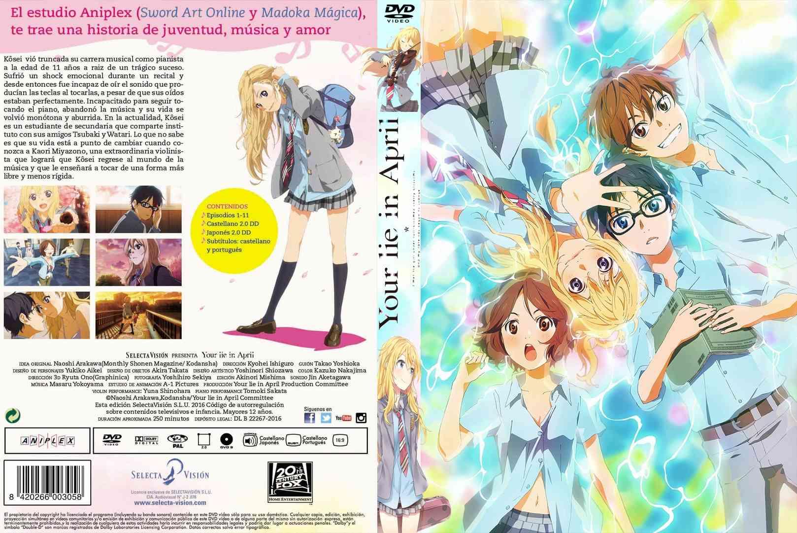 Caratula-COVER |  Your Lie in April- shigatsu wa kimi no uso en DVD COMPLETA Shigat10