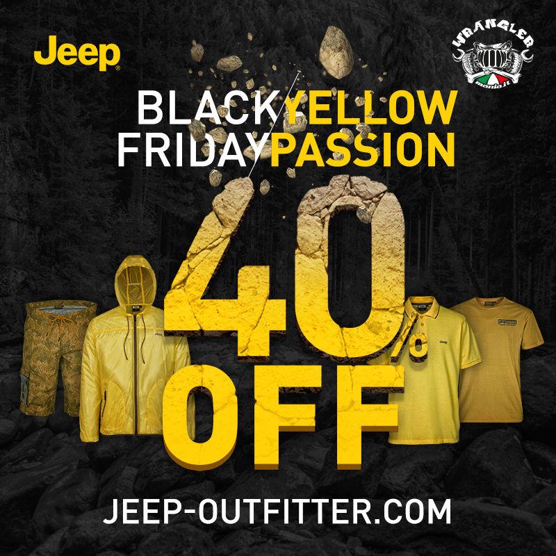 Black Friday / Yellow Passione: 40% di sconto su tutto il catalogo!  Jeepou10