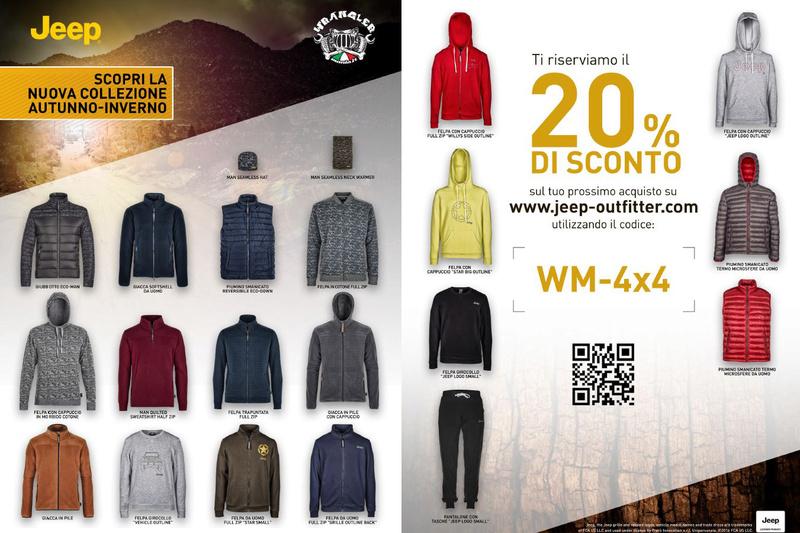 """Nuova collezione Autunno-Inverno: sconto del 20% """"WM-4x4"""" Promo_10"""