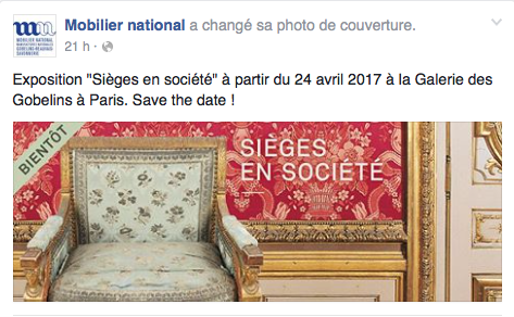 """Exposition """"Sièges en société"""" aux Gobelins Captur48"""