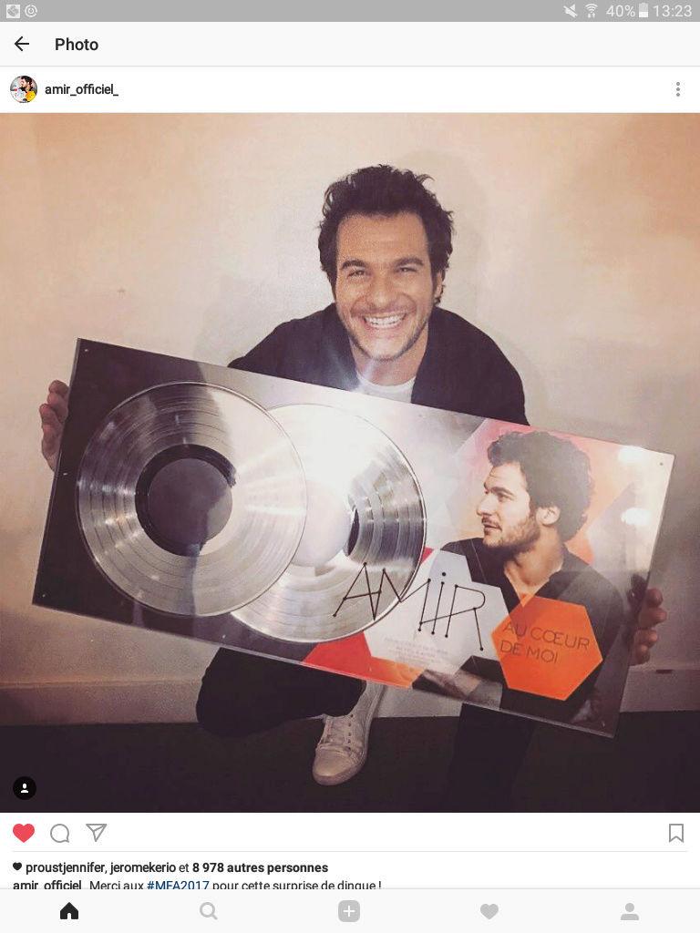 """""""Au coeur de moi"""" double disque de platine ! (200 000 exemplaires) Screen10"""