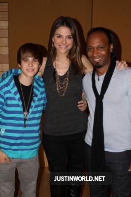 "Justin en studio d'enregistrement pour ""Maria's Madcap Adventures Normal21"