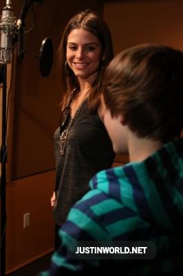 "Justin en studio d'enregistrement pour ""Maria's Madcap Adventures Normal25"