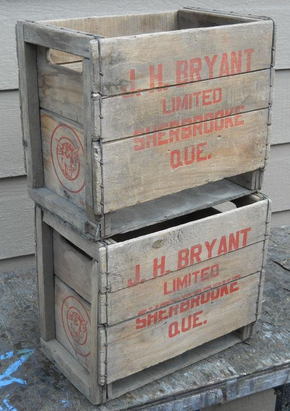 2 caisses en bois J. H. Bryant de Sherbrooke, PQ 2bryan11