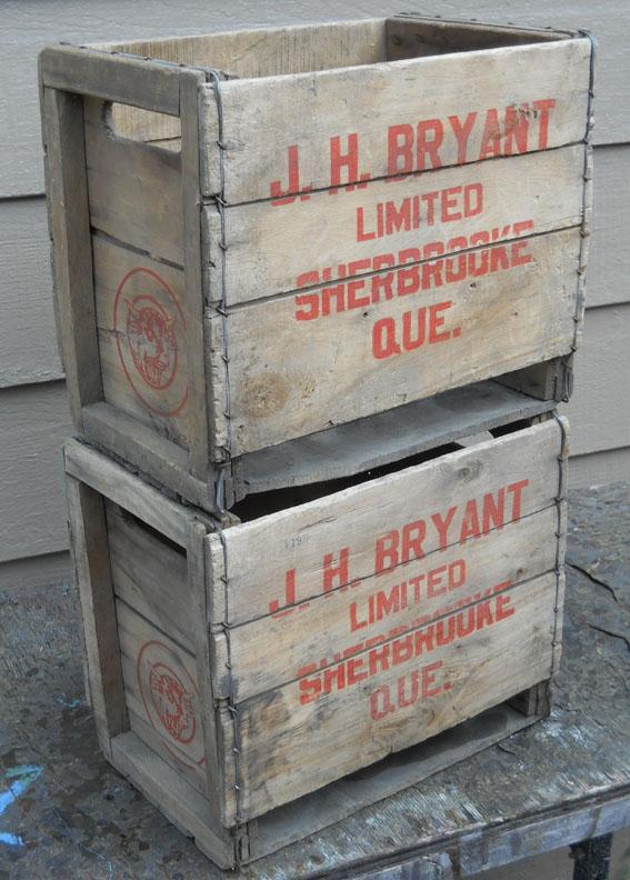 2 caisses en bois J. H. Bryant de Sherbrooke, PQ 2bryan12