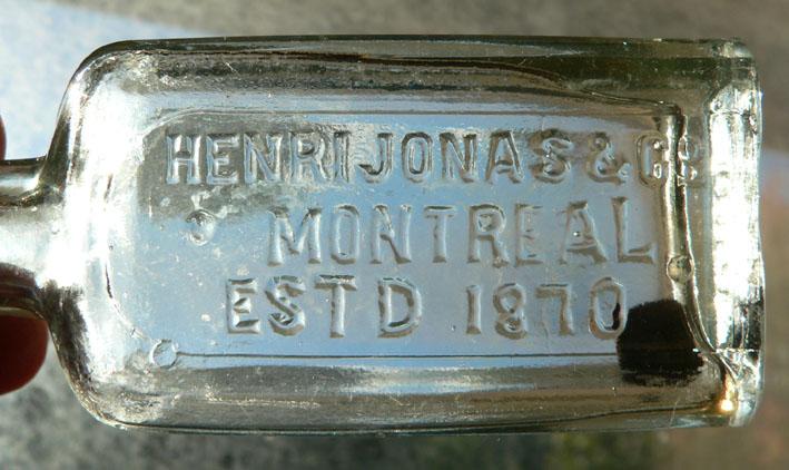 """2 petites bouteille BIMAL """"Henri Jonas & Co."""" 2jonas11"""