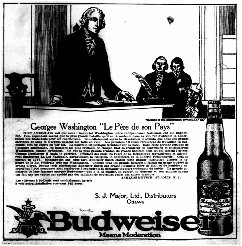La bière Budweiser était vendue au Canada en...   1915!!! Bud_le10