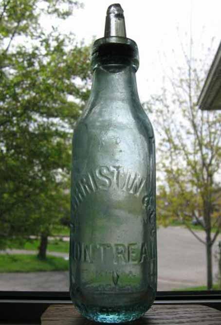 """La bouteille au goulot de type """"Arthur Christin"""" Christ10"""