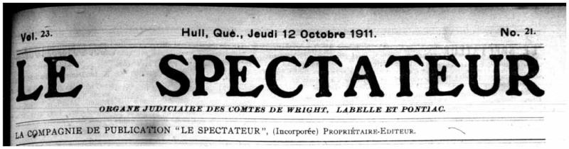 La bière Fox Head de Québec vendue à Hull en 1911 Le_spe10