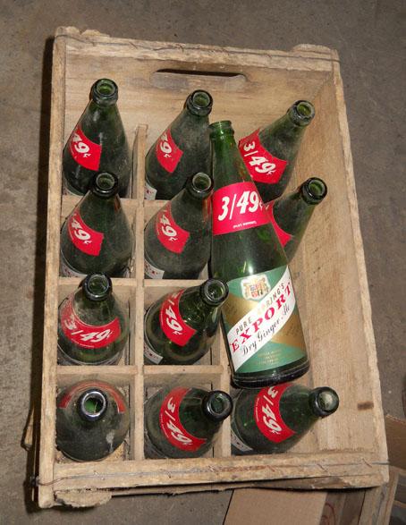 """Bouteille de liqueur """"Pure Spring"""" Export Ginger Ale - 30oz - étiquette en papier Pure-s12"""