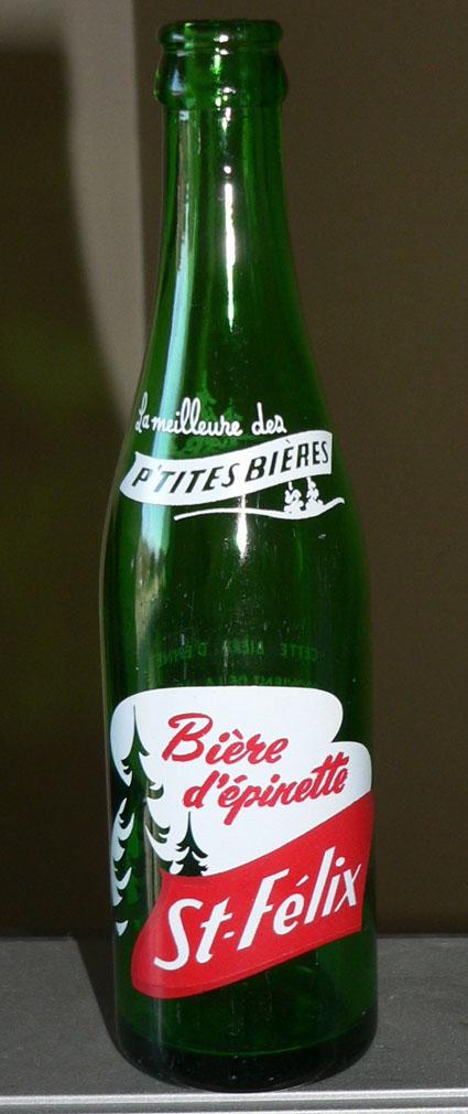 Bière d'épinette St-Félix - ACL 10oz verte - St-Félix de Valois, Québec St-fel10