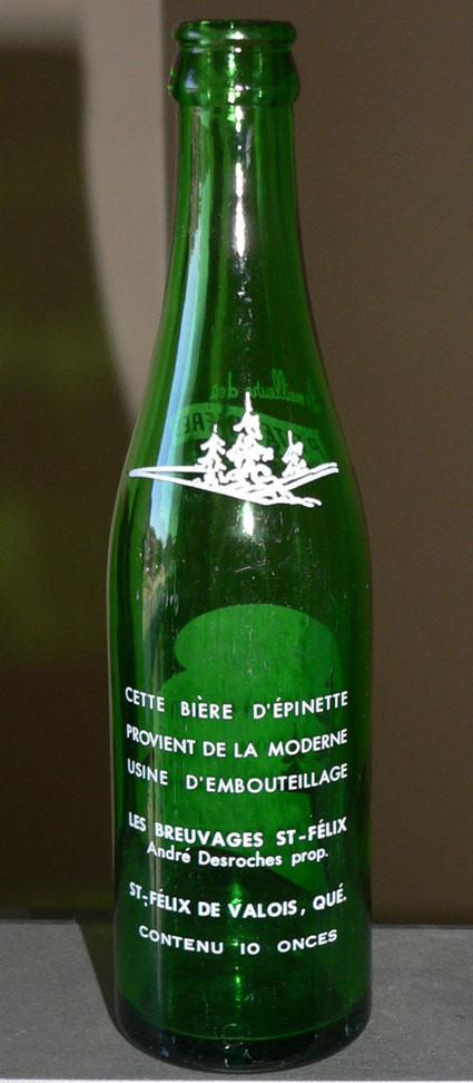 Bière d'épinette St-Félix - ACL 10oz verte - St-Félix de Valois, Québec St-fel11