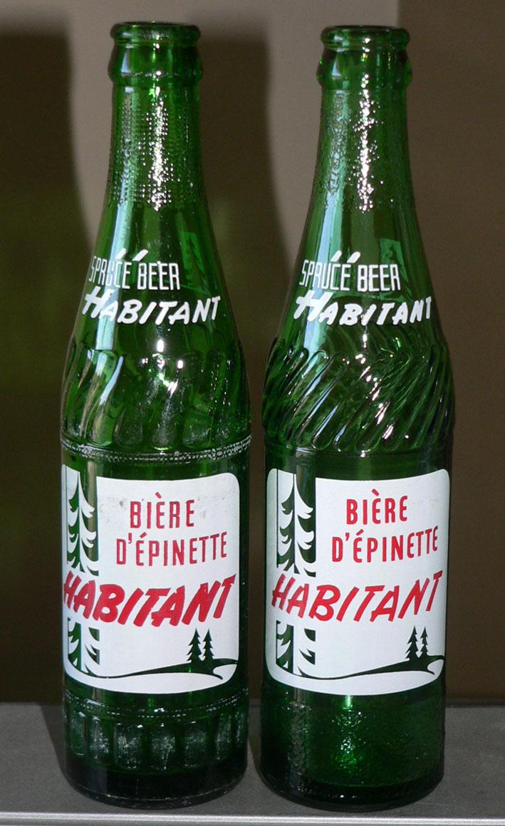 """Bouteille de liqueur ACL bière d'épinette """"HABITANT"""" verte - 10oz Snow White/Joliette Xhabit10"""