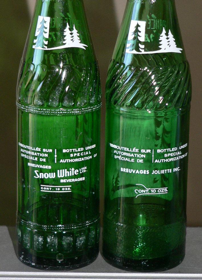 """Bouteille de liqueur ACL bière d'épinette """"HABITANT"""" verte - 10oz Snow White/Joliette Xhabit11"""