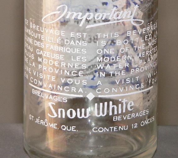 """Bouteille de liqueur ACL """"Snow White"""" - 12oz de St-Jérôme, Québec Xsnoww11"""