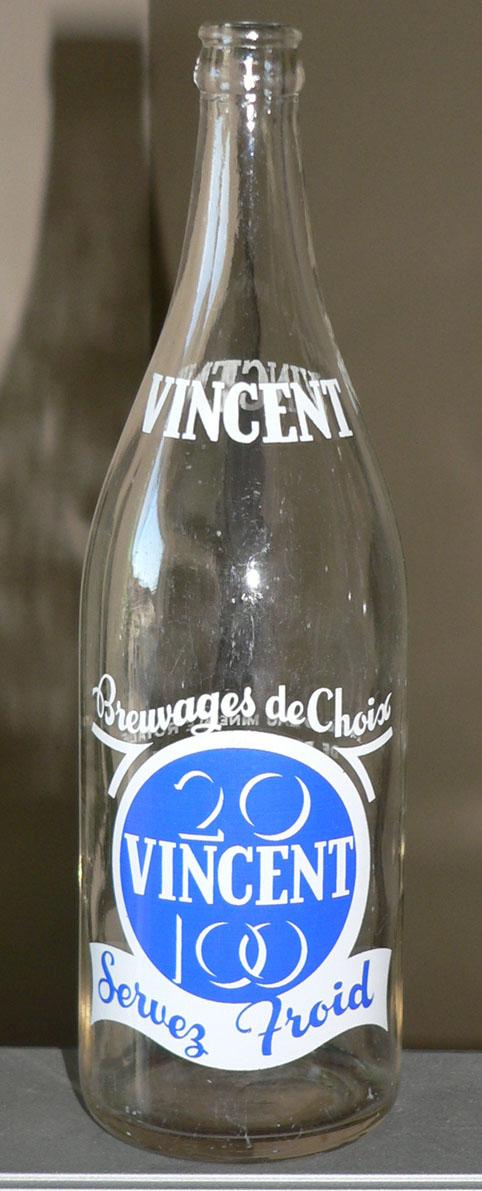 """Bouteille de liqueur ACL """"VINCENT"""" - 30oz de Drummondville, Québec Xvince10"""