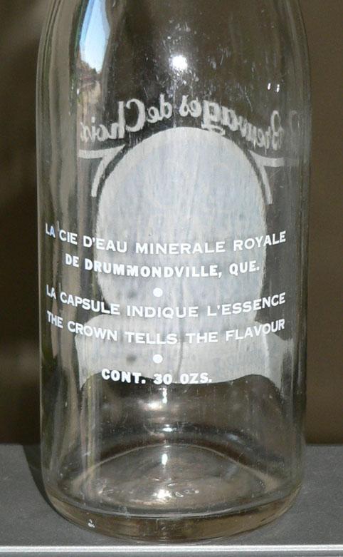 """Bouteille de liqueur ACL """"VINCENT"""" - 30oz de Drummondville, Québec Xvince11"""