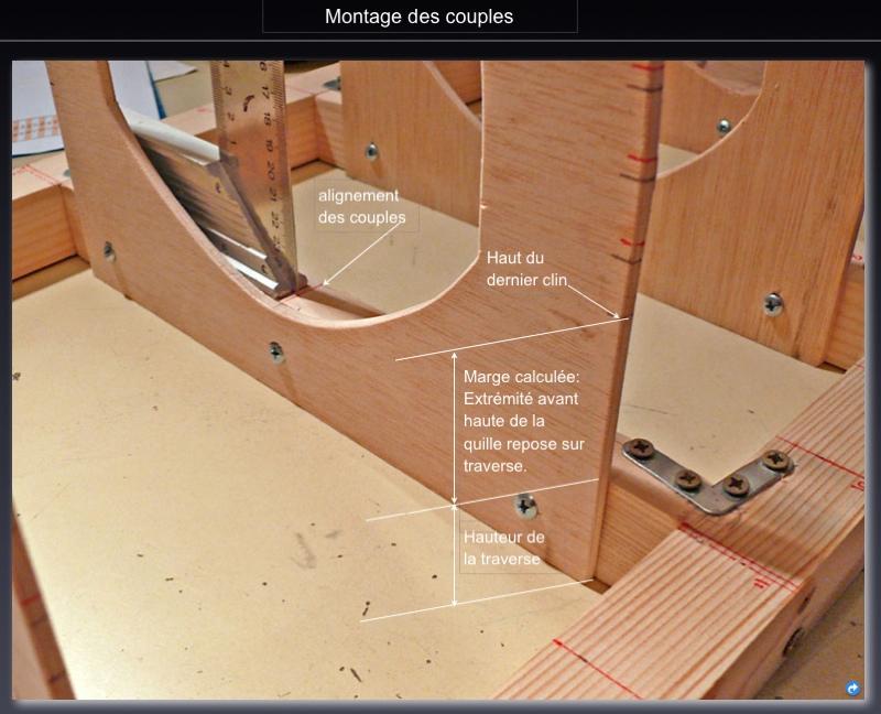 TECHNIQUE de CONSTRUCTION d'une CHALOUPE à CLINS par ROOKIE78 Pose_c10