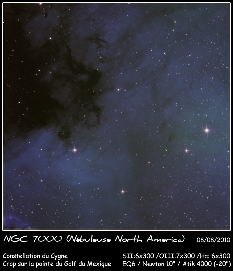 Une partie de NGC7000 en SOH Ngc70010